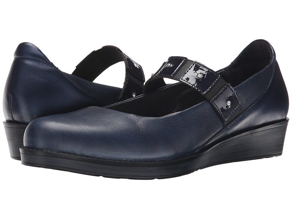 Naot Footwear - Honesty (Ink Leather/Navy Patent Leather/Polar Sea Leather) Women