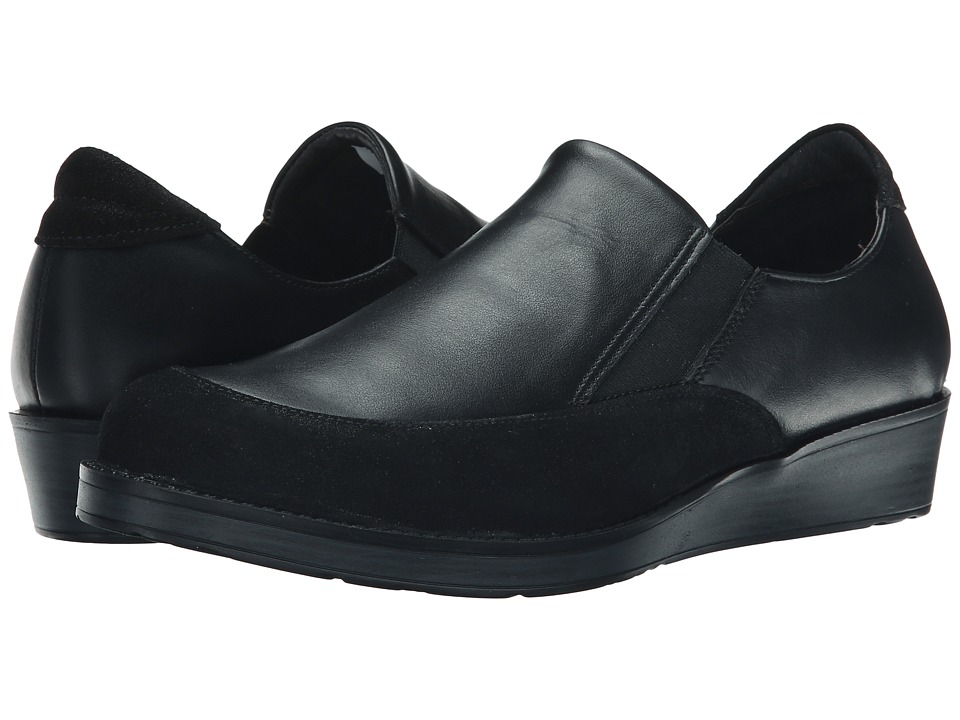 Naot Footwear - Cherish (Shiny Black Leather/Black Raven Leather) Women