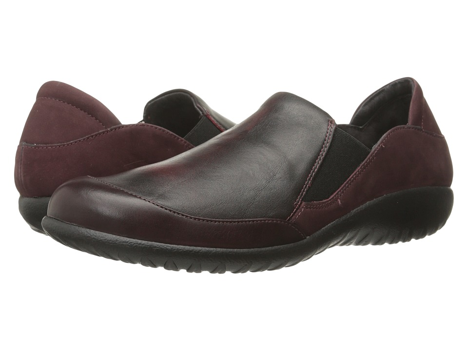 Naot Footwear Moana (Shiraz Leather/Volcanic Red Leather/Violet Nubuck) Women