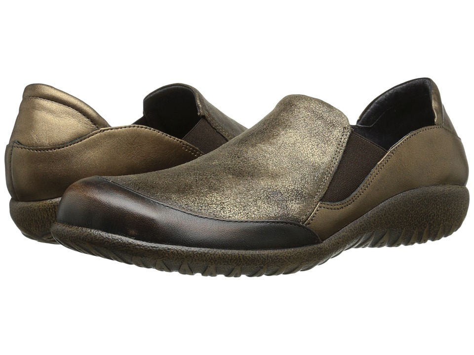 Naot Footwear - Moana (Volcanic Brown Leather/Bronze Shimmer Suede/Grecian Gold Leather) Women