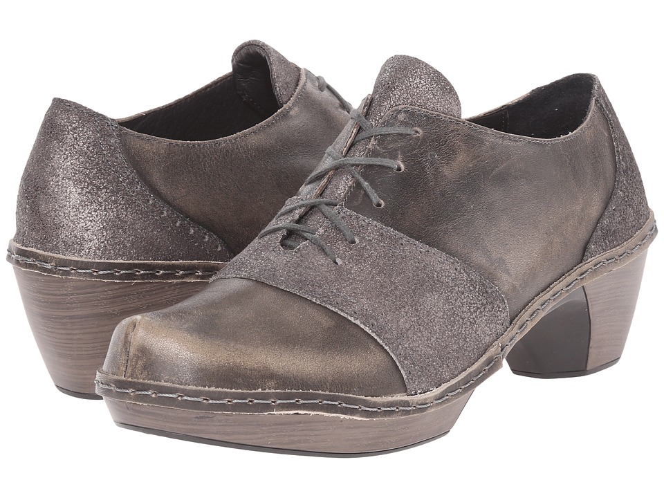 Naot Besalu (Gray Shimmer Leather/Vintage Gray Leather) Women