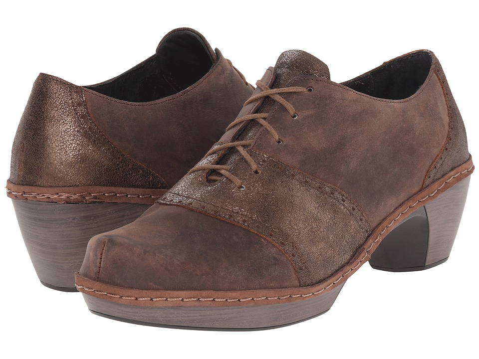 Naot Footwear - Besalu (Bronze Shimmer Suede/Crazy Horse Leather) Women's Shoes