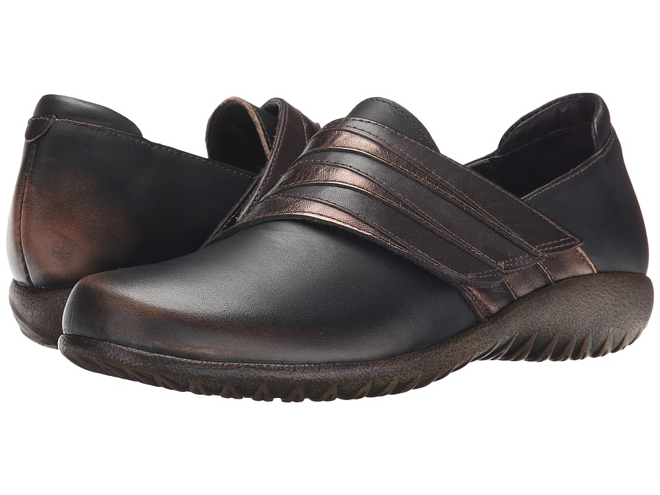 Naot Footwear - Rapoka (Volcanic Brown Leather/Burnt Copper Leather/French Roast Leather) Women's Shoes