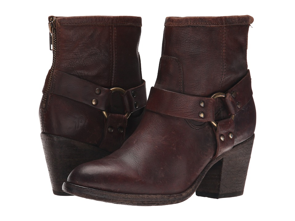 Frye - Tabitha Harness Short (Dark Brown Stone Antiqued) Cowboy Boots