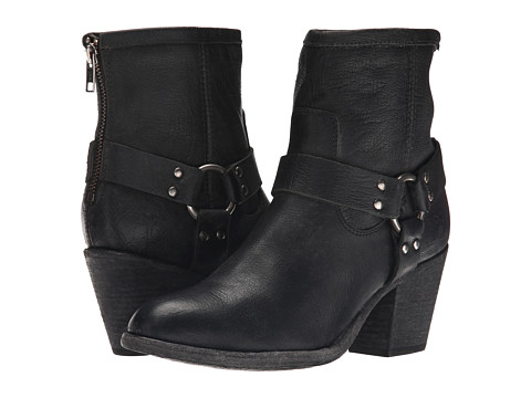 Frye - Tabitha Harness Short (Black Stone Antiqued) Cowboy Boots