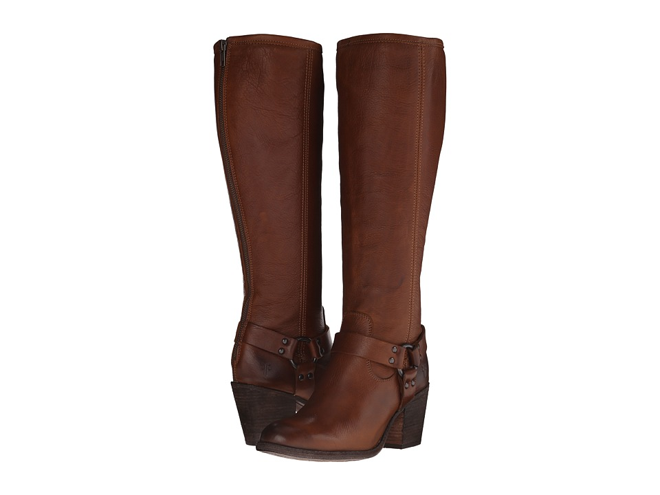 Frye - Tabitha Harness Tall (Cognac Soft Vintage Leather) Cowboy Boots