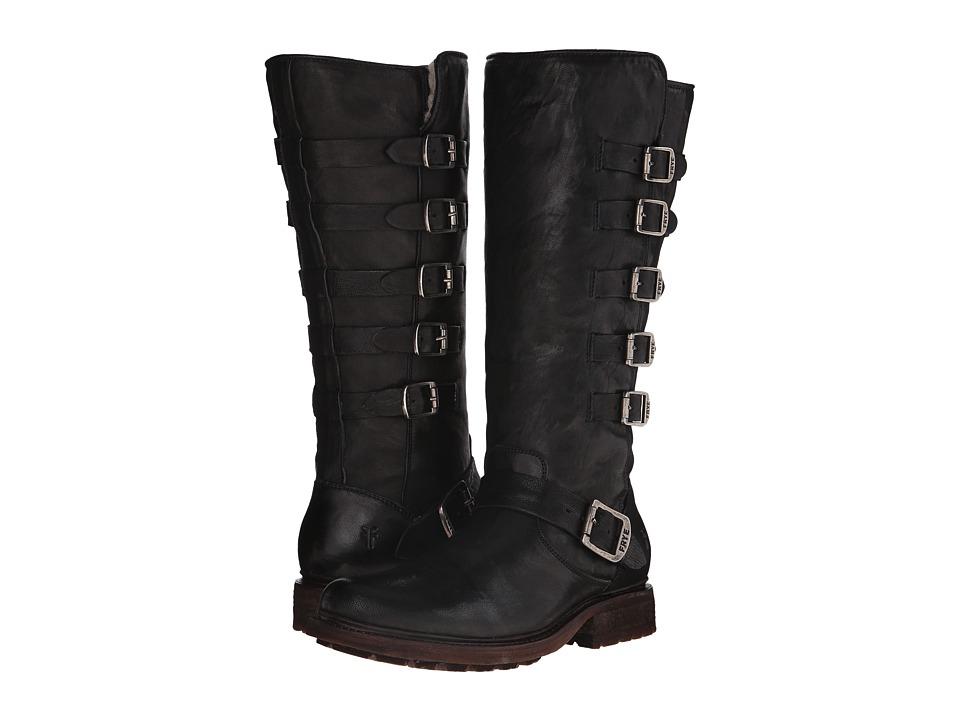 Frye - Valerie Belted Tall (Black Antique Soft Vintage) Cowboy Boots