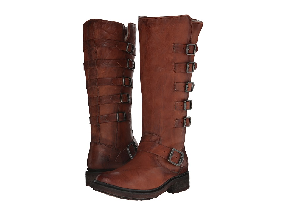Frye - Valerie Belted Tall (Cognac Antique Soft Vintage) Cowboy Boots