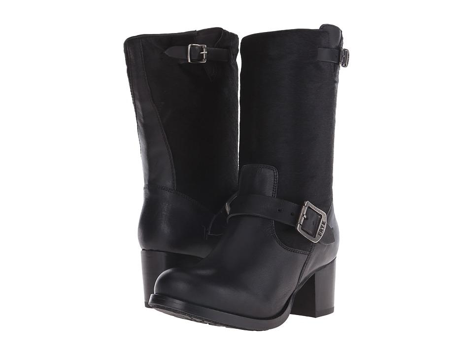 Frye - Vera Short (Black Hair Calf/Tumbled Full Grain) Cowboy Boots
