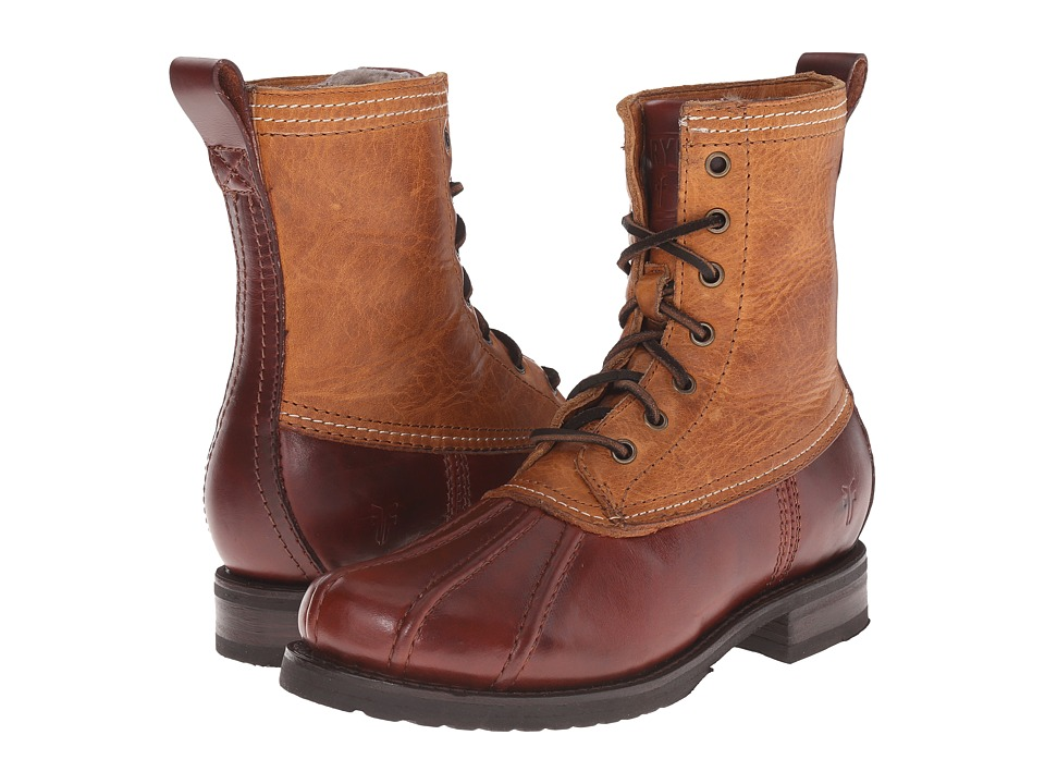 Frye - Veronica Duck Boot (Cinnamon Multi Smooth Pull Up/Oiled Vintage) Women's Lace-up Boots