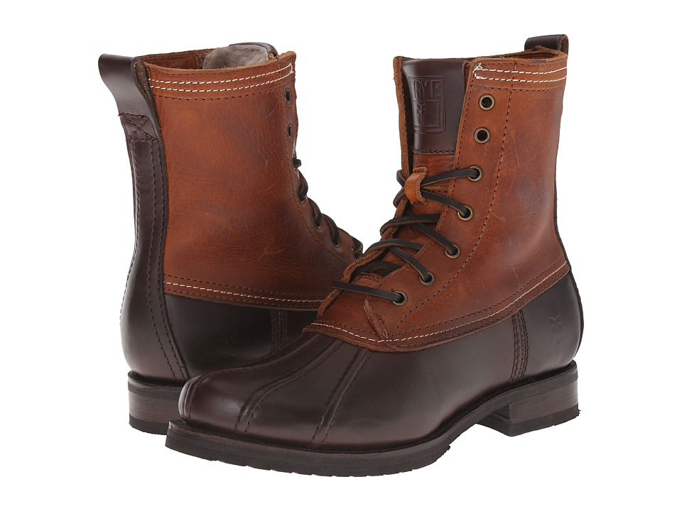 Frye - Veronica Duck Boot (Espresso Multi Smooth Pull Up/Oiled Vintage) Women's Lace-up Boots