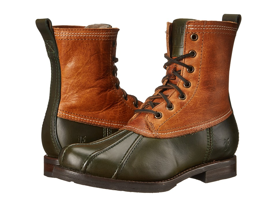Frye - Veronica Duck Boot (Forest Multi Smooth Pull Up/Oiled Vintage) Women's Lace-up Boots