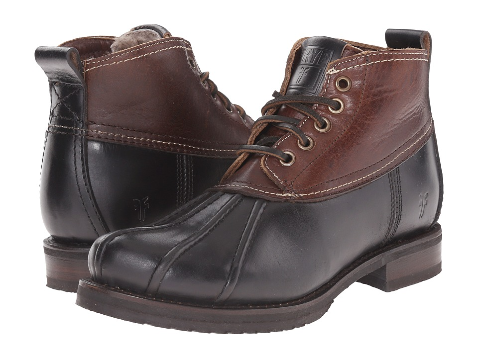 Frye - Veronica Duck Chukka (Black Multi Smooth Pull Up/Oiled Vintage) Women's Lace-up Boots
