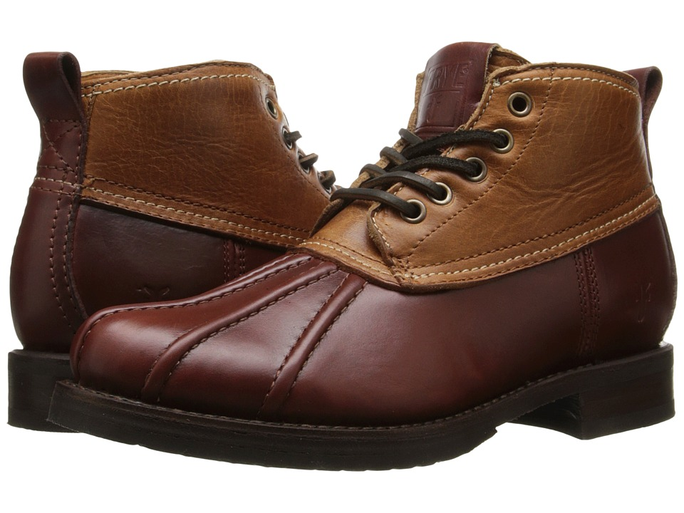 Frye - Veronica Duck Chukka (Cinnamon Multi Smooth Pull Up/Oiled Vintage) Women's Lace-up Boots