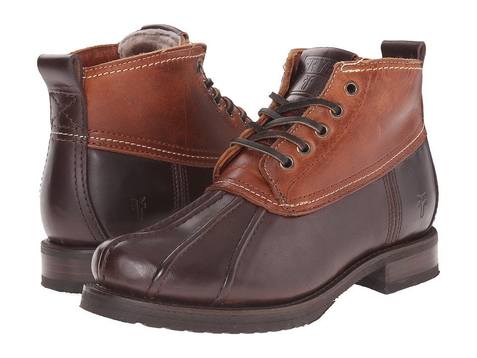 Frye - Veronica Duck Chukka (Espresso Multi Smooth Pull Up/Oiled Vintage) Women's Lace-up Boots