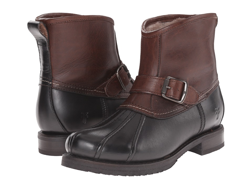 Frye - Veronica Duck Engineer (BlackMulti Smooth Pull Up/Oiled Vintage) Women's Pull-on Boots
