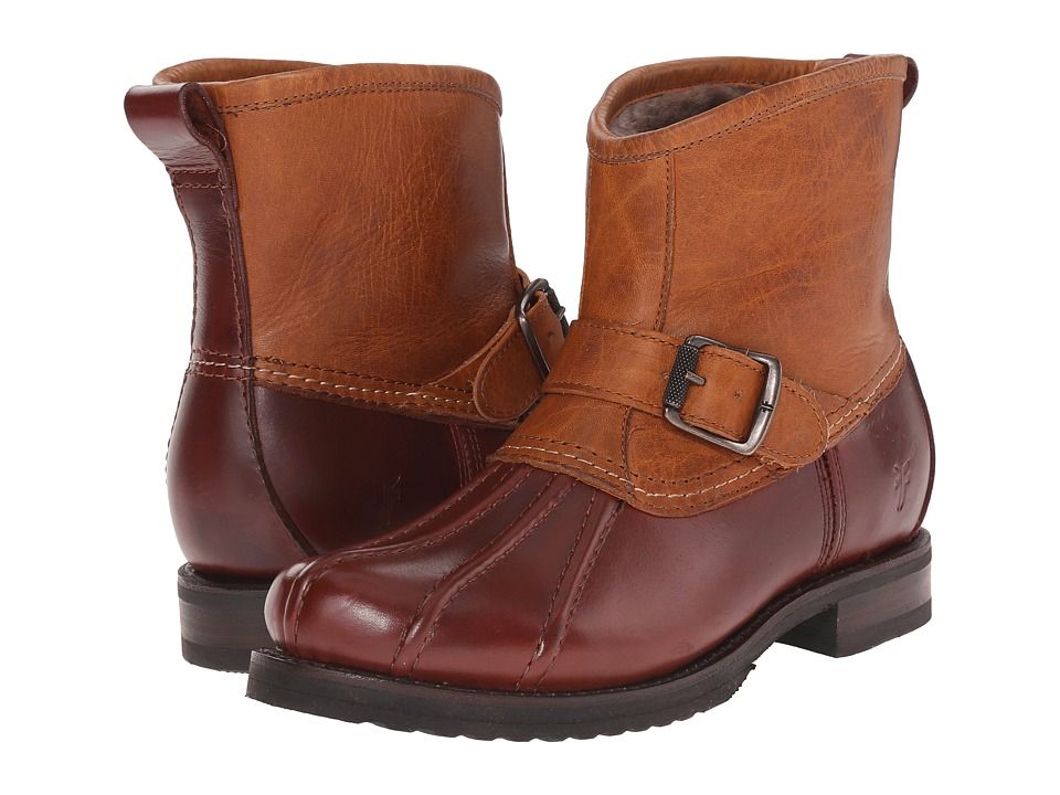 Frye - Veronica Duck Engineer (Cinnamon Multi Smooth Pull Up/Oiled Vintage) Women's Pull-on Boots