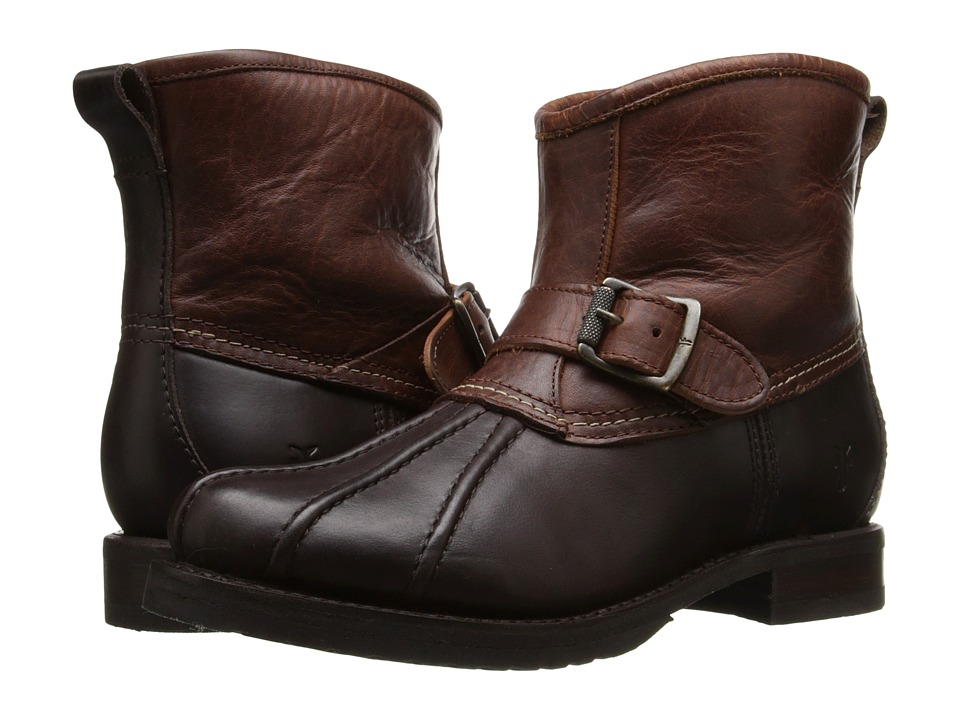 Frye - Veronica Duck Engineer (Espresso Multi Smooth Pull Up/Oiled Vintage) Women's Pull-on Boots