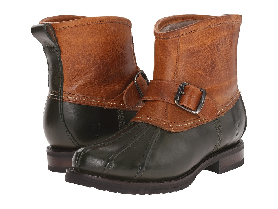 Frye - Veronica Duck Engineer (Forest Multi Smooth Pull Up/Oiled Vintage) Women's Pull-on Boots