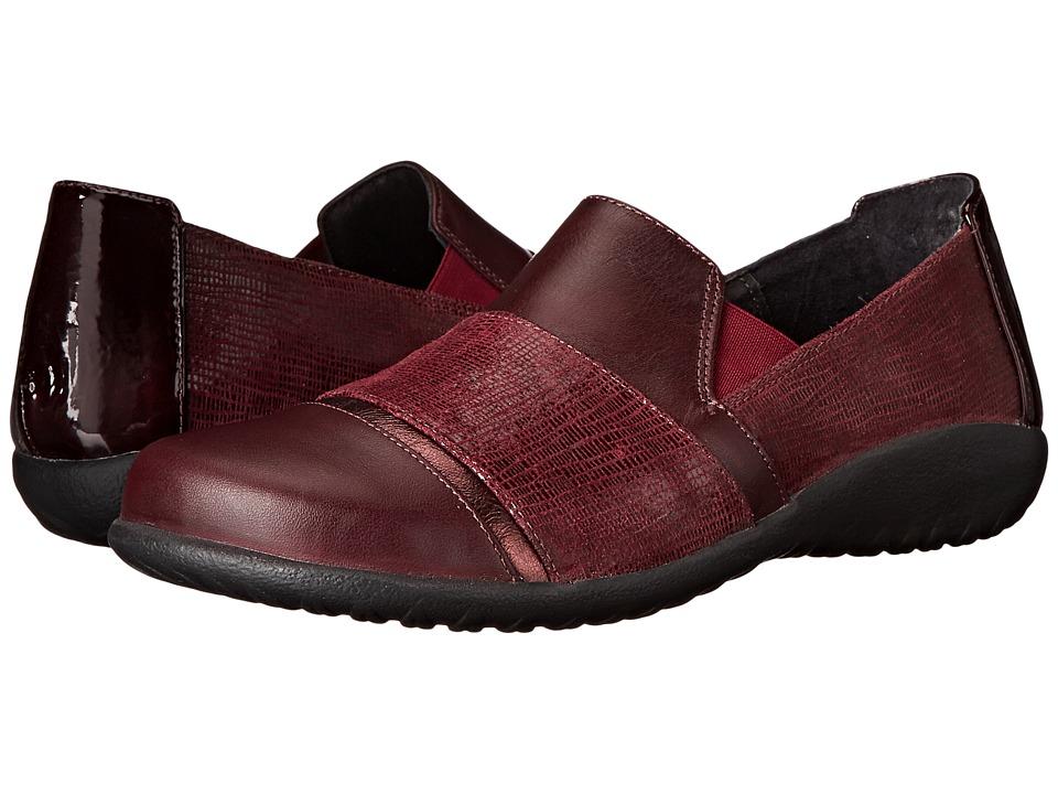 Naot Footwear - Miro (Reptile Burgundy/Sicily Bronze/Shiraz Leather/Wine Patent/Shiraz) Women's Flat Shoes