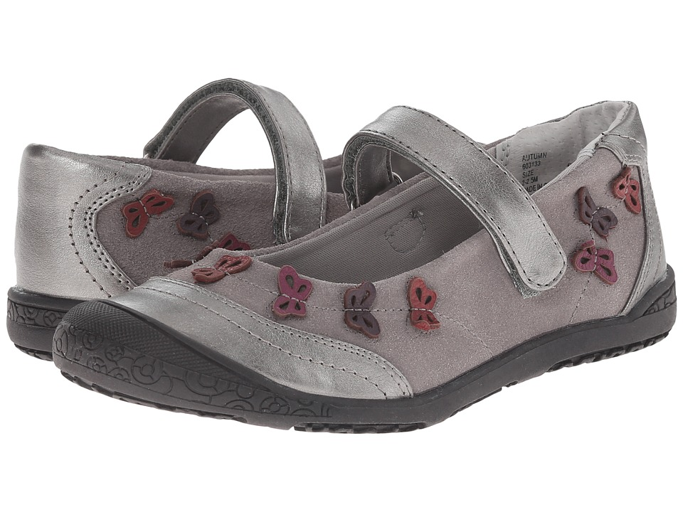 Jumping Jacks Kids - Autumn Balleto (Toddler/Little Kid) (Pewter Suede/Pewter/Pewter Metallic/Multi) Girls Shoes