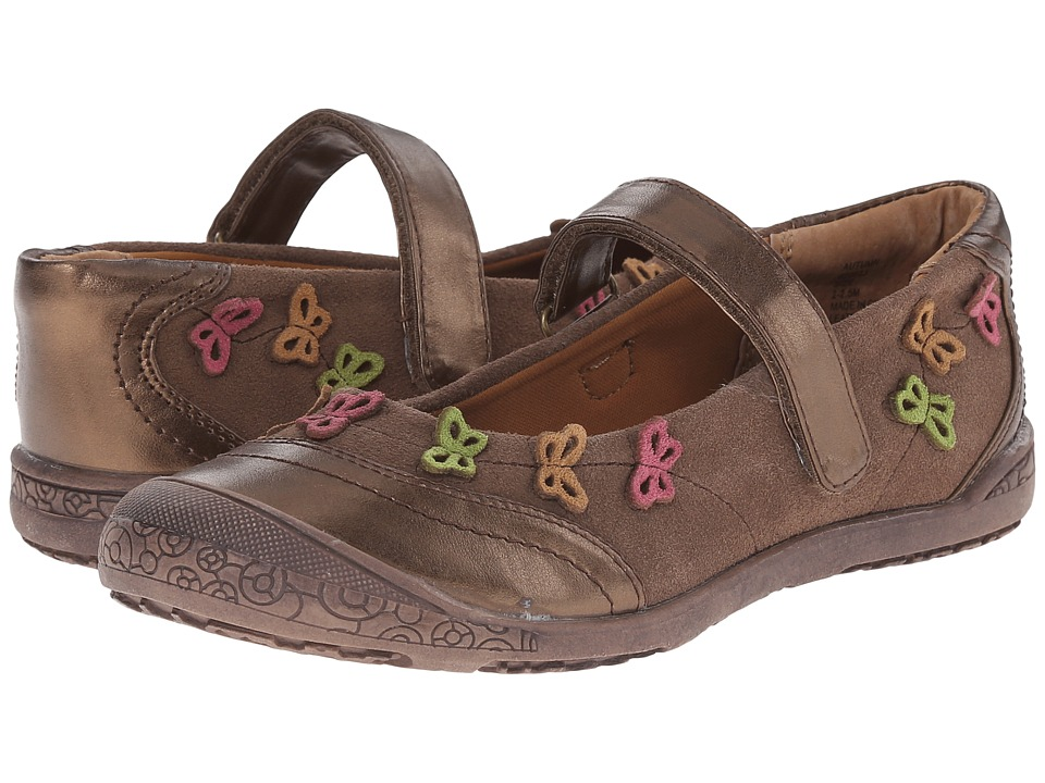 Jumping Jacks Kids - Autumn Balleto (Toddler/Little Kid) (Coco Brown Suede/Brown Metallic/Multi) Girls Shoes