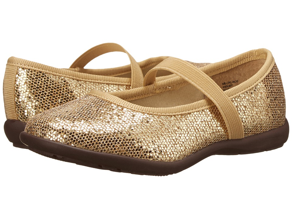 Jumping Jacks Kids - Necklace Balleto (Toddler/Little Kid/Big Kid) (Soft Gold Glitter) Girls Shoes