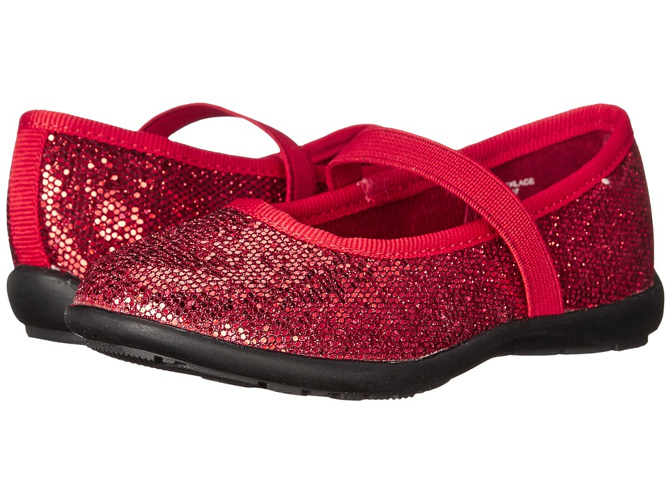 Jumping Jacks Kids - Necklace Balleto (Toddler/Little Kid/Big Kid) (Dark Red Glitter) Girls Shoes
