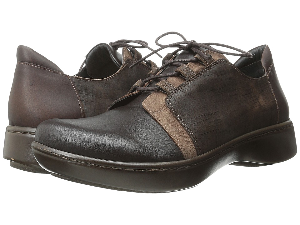 Naot Footwear - Riviera (French Roast/Carob Brown/Mine Brown Leather/Buffalo Leather) Women's Shoes