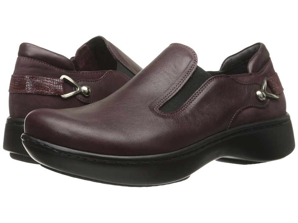 Naot Footwear - Nautilus (Shiraz Leather/Violet Nubuck/Reptile Burgundy Leather) Women's Slip on Shoes