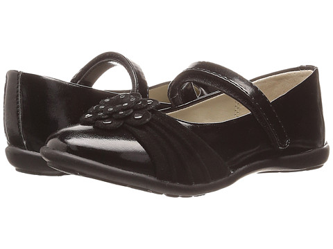 Jumping Jacks Kids - Megan Balleto (Toddler/Little Kid/Big Kid) (Black/Black Suede) Girls Shoes