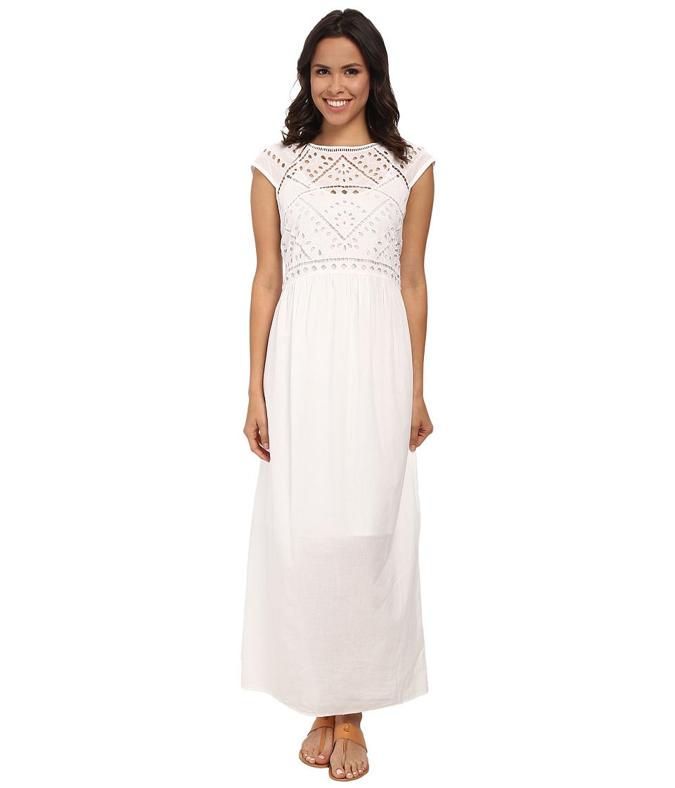 Lucky Brand - Cut Out Maxi Dress (Lucky White) Women's Dress