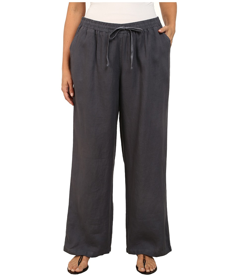 Allen Allen - Plus Size Beach Pants (Flint) Women's Dress Pants