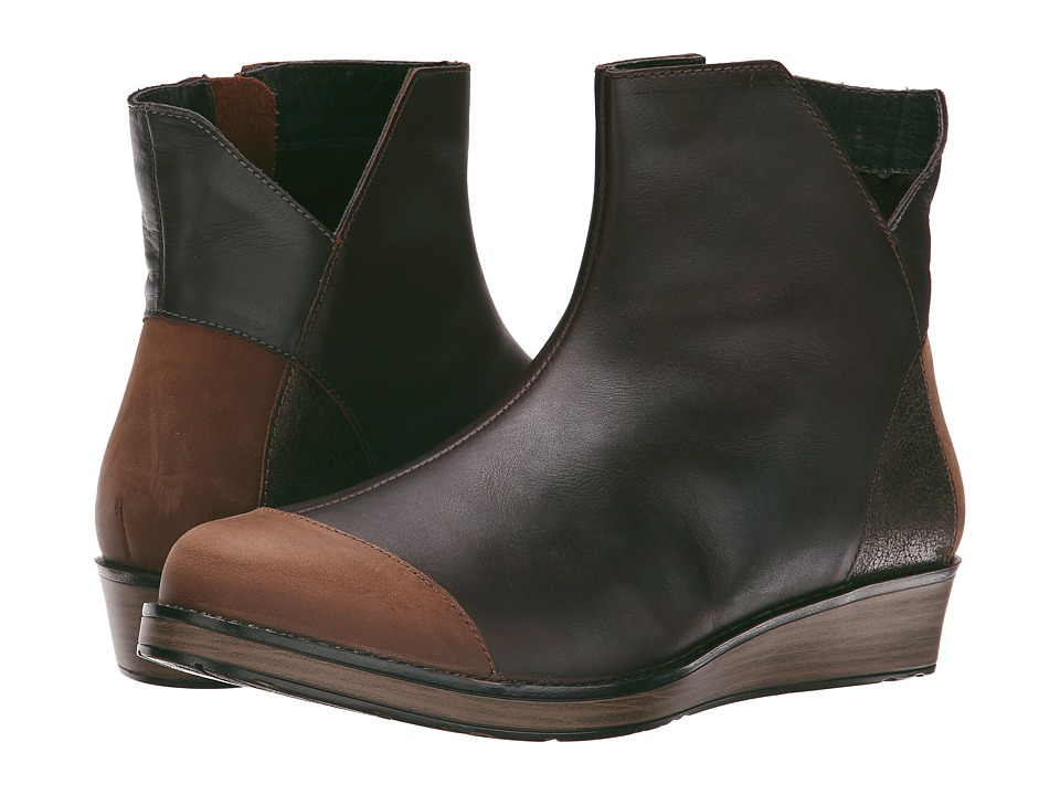 Naot Footwear - Loyal (Buffalo Leather/Gray/Bronze Suede/French Roast Leather) Women's Boots