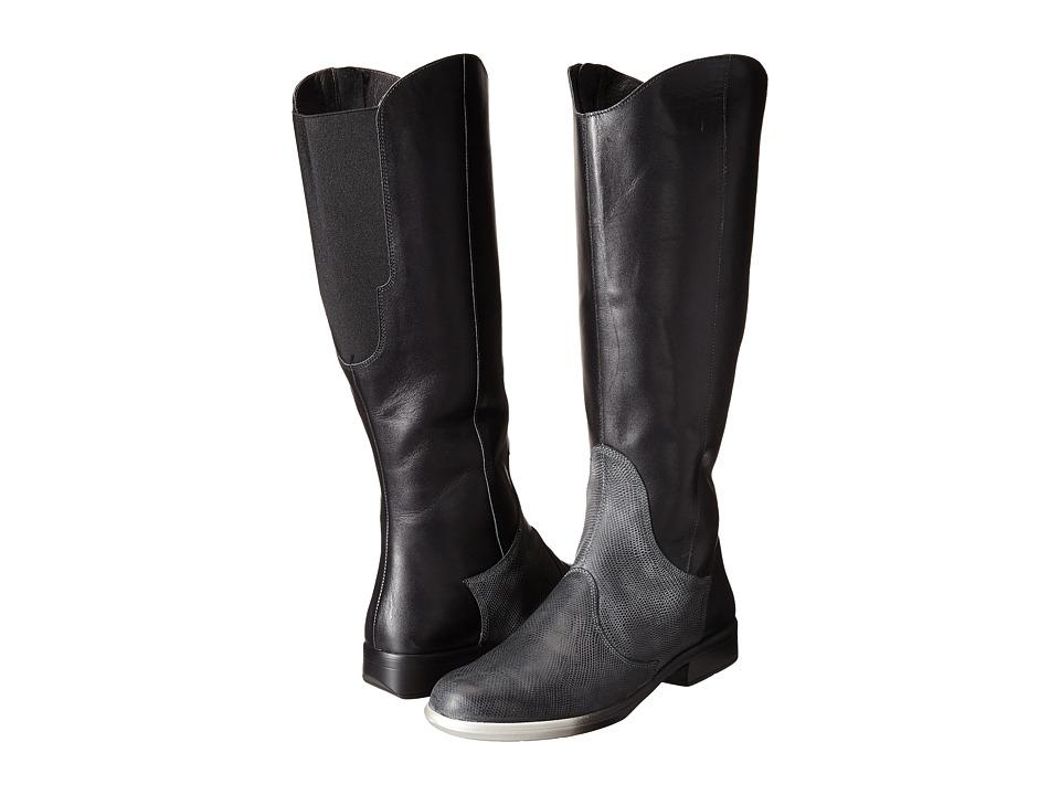 Naot Shamal (Black Raven Leather/Reptile Gray Leather) Women