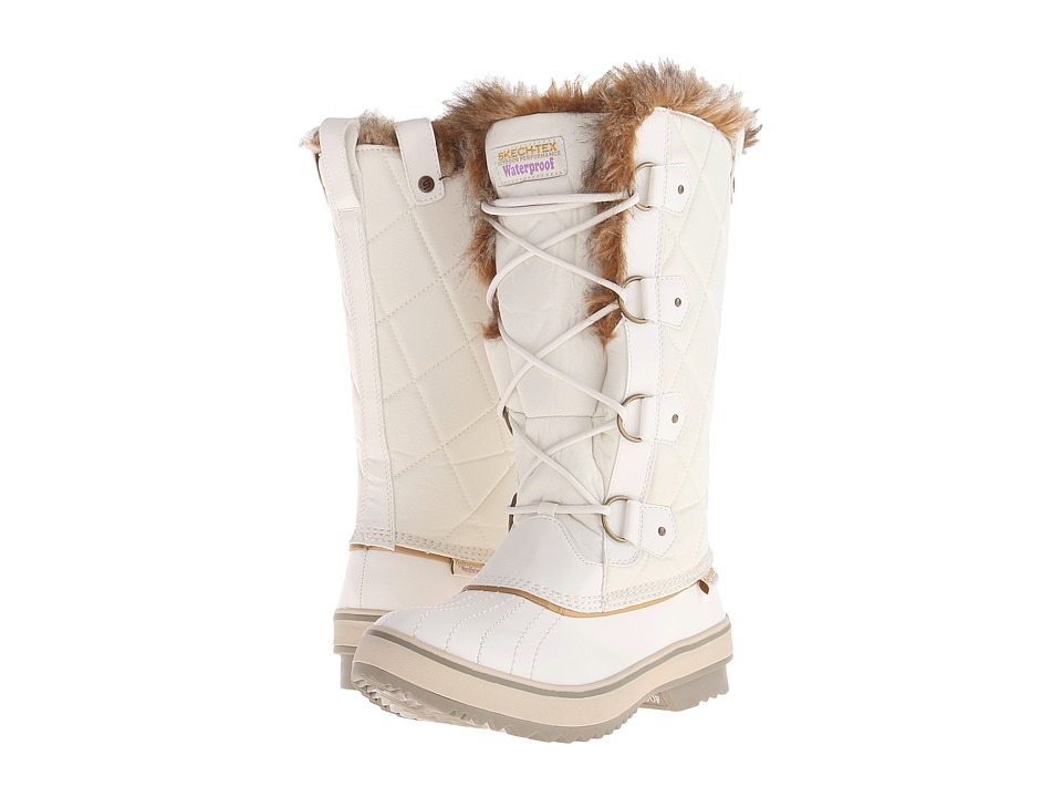 SKECHERS - Highlands-Cottontail (Winter White) Women's Cold Weather Boots