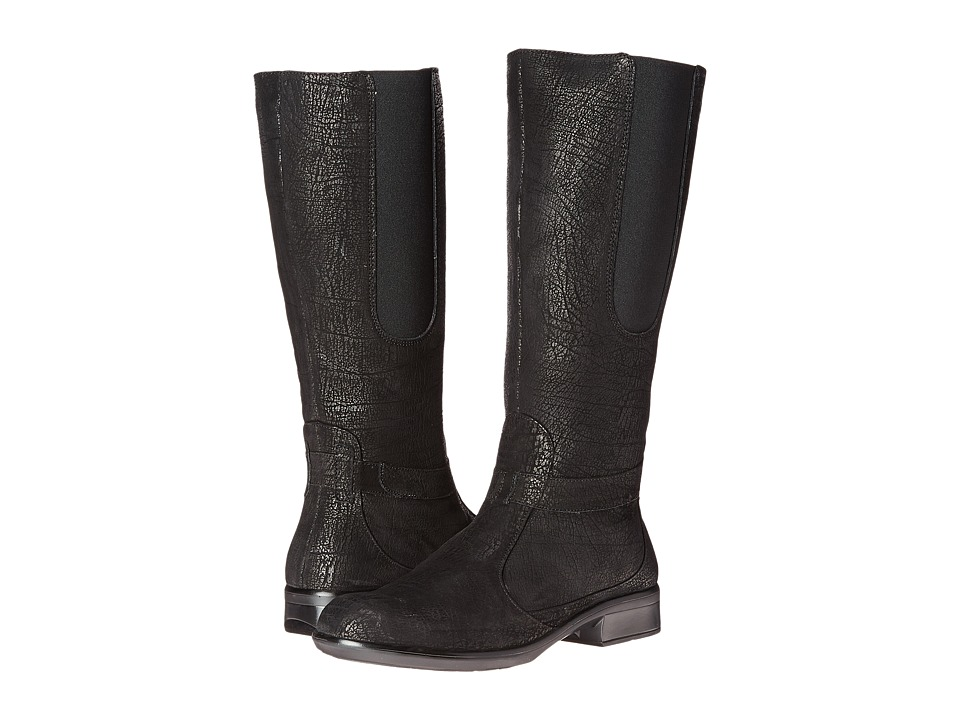 Naot Footwear - Viento (Black Crackle Leather) Women's Boots