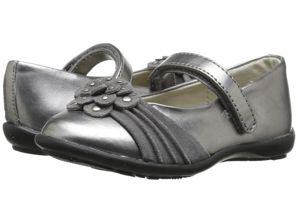 Jumping Jacks Kids - Megan Balleto (Toddler/Little Kid/Big Kid) (Pewter Metallic/Pewter Suede) Girls Shoes