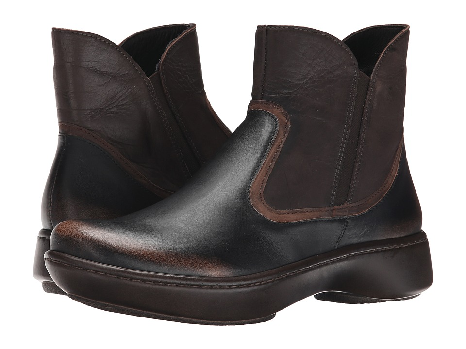 Naot Footwear - Surge (Volcanic Brown/Dark Sienna Leather/Crazy Horse Leather) Women's Boots