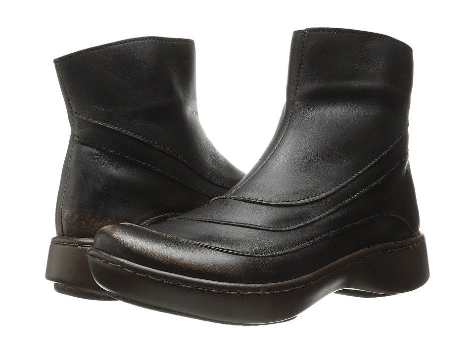 Naot - Tellin (Volcanic Brown Leather) Women's Zip Boots