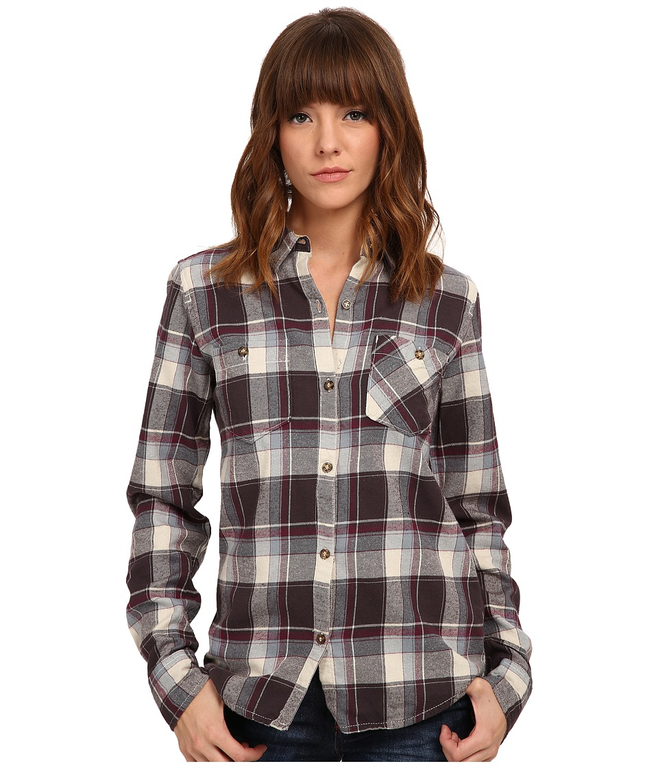 Burton - Grace L/S Woven (Smokey Black Impulse Plaid) Women's Long Sleeve Button Up