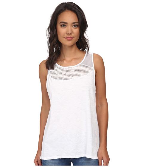 Lucky Brand - Mixed Mesh Tank Top (Lucky White) Women's Sleeveless