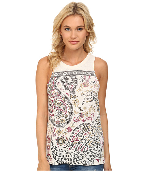 Lucky Brand - Framed Peacock Tank Top (Nigori) Women's Sleeveless