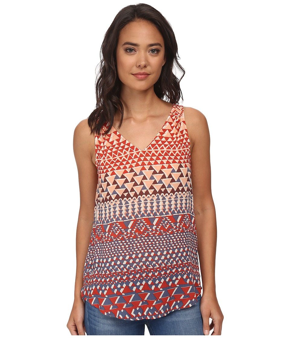 Lucky Brand - Ombre Geo Tank Top (Orange Multi) Women's Sleeveless