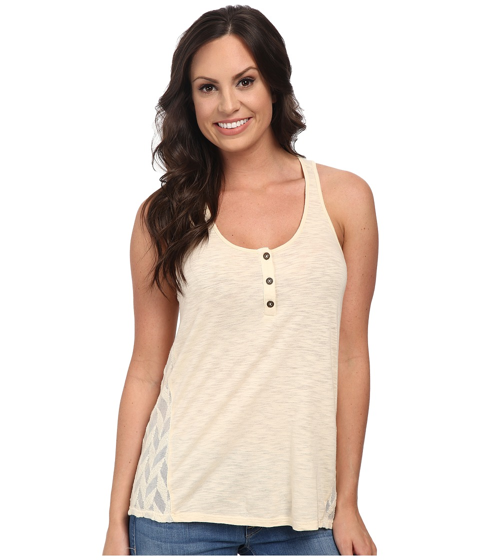Lucky Brand - Mixed Henley Tank Top (Nigori) Women's Sleeveless