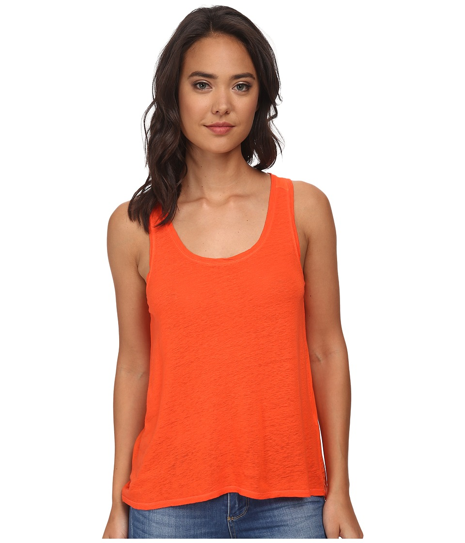 Lucky Brand - Washed Woven Mix Tank Top (Grenadine) Women's Sleeveless