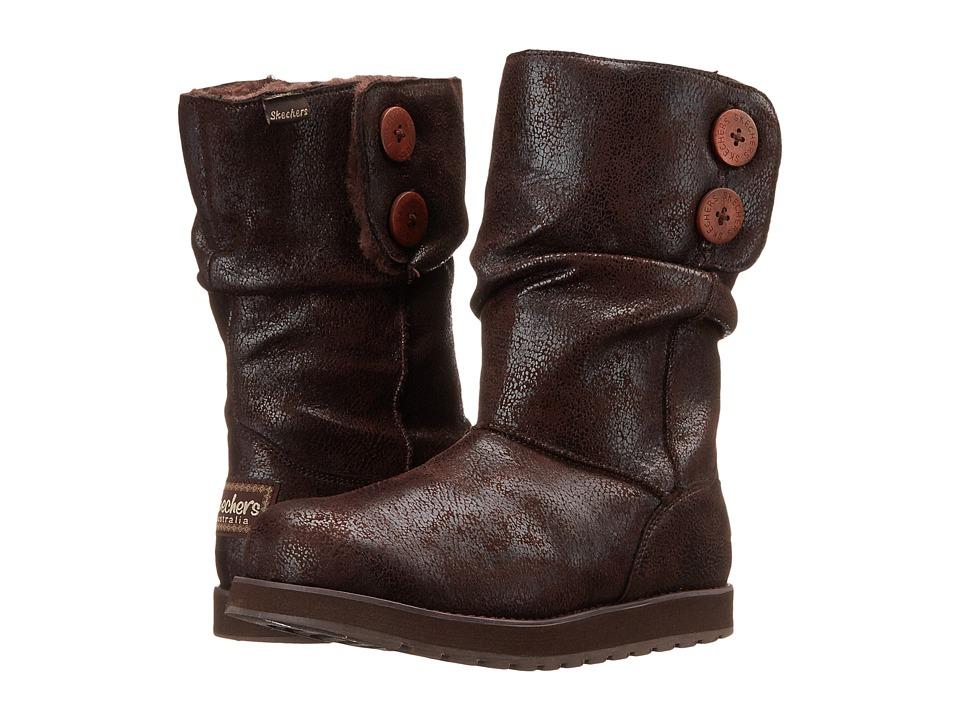 SKECHERS Keepsakes-Leather-Esque (Chocolate) Women