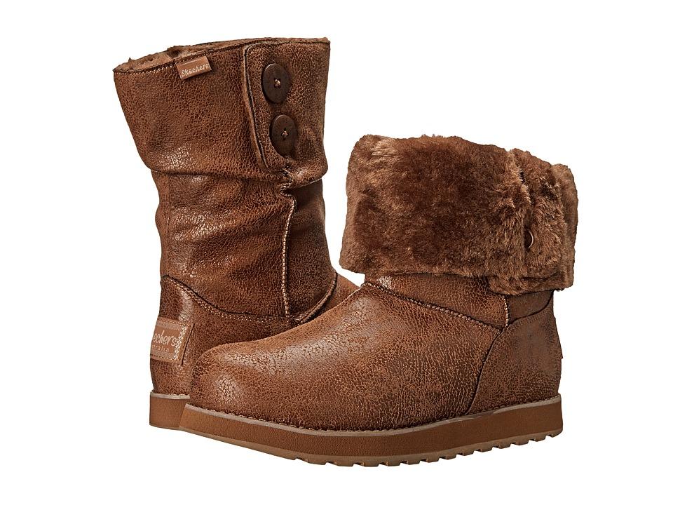 SKECHERS Keepsakes-Leather-Esque (Chestnut) Women