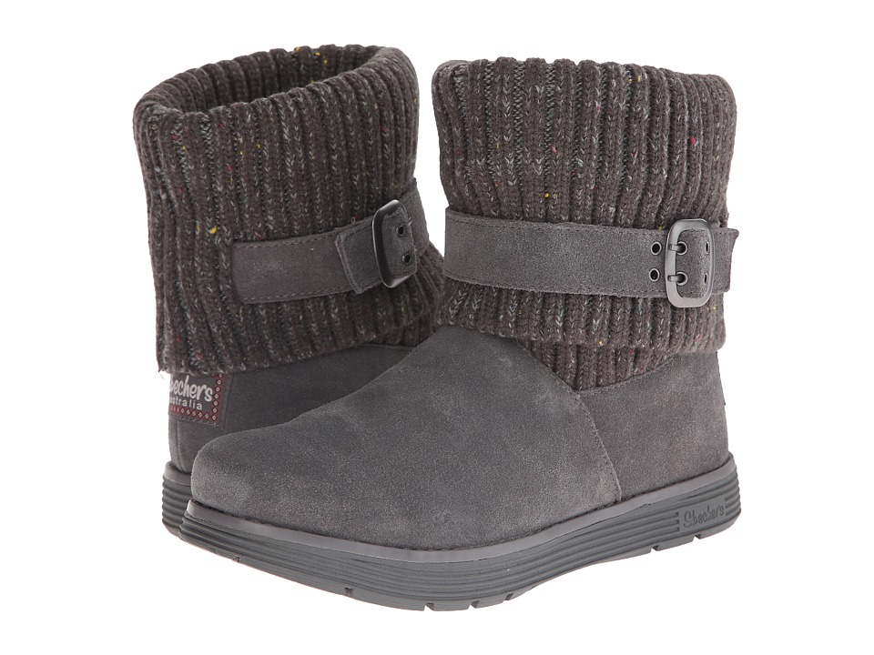 SKECHERS - Adorbs (Charcoal) Women's Cold Weather Boots