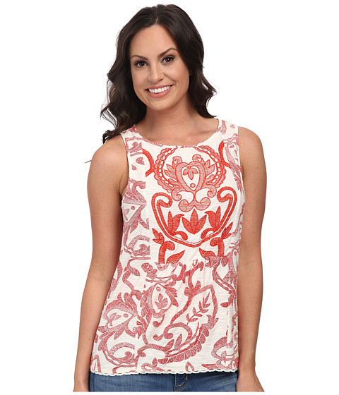 Lucky Brand - Red Floral Top (Red Multi) Women